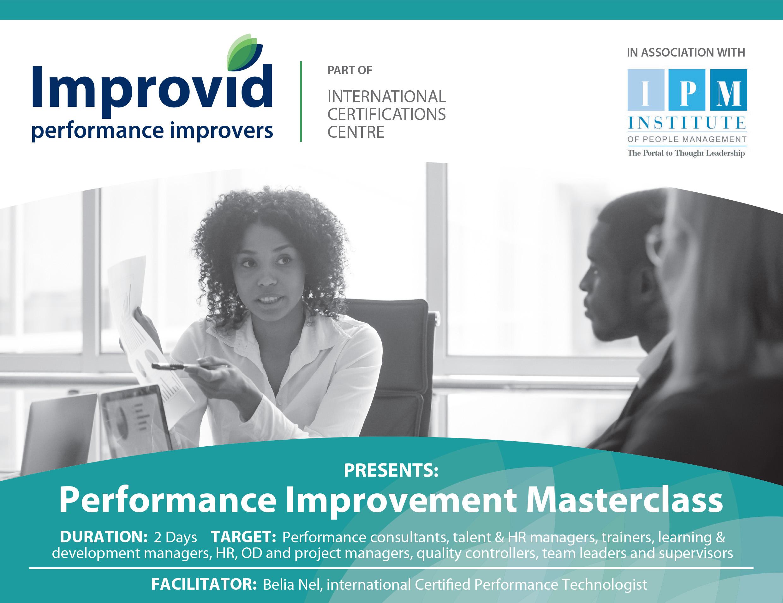Performance Improvement Masterclass
